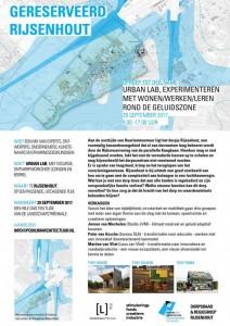 uitnodiging voor 29 sept, Urban Lab Rijsenhout